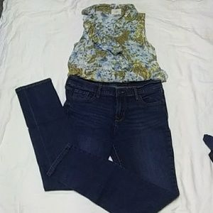 Tank Top and Jean Set